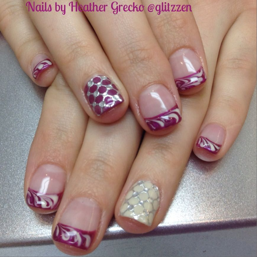 LCN 's Berry punch and knitting wool with new foil wrap feature nail