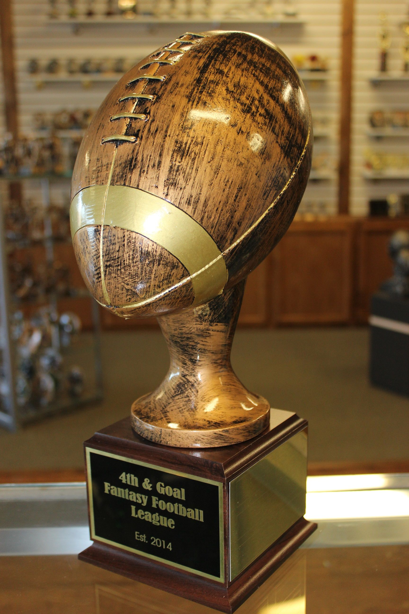 Awesome 15 fantasy football trophy can be given as
