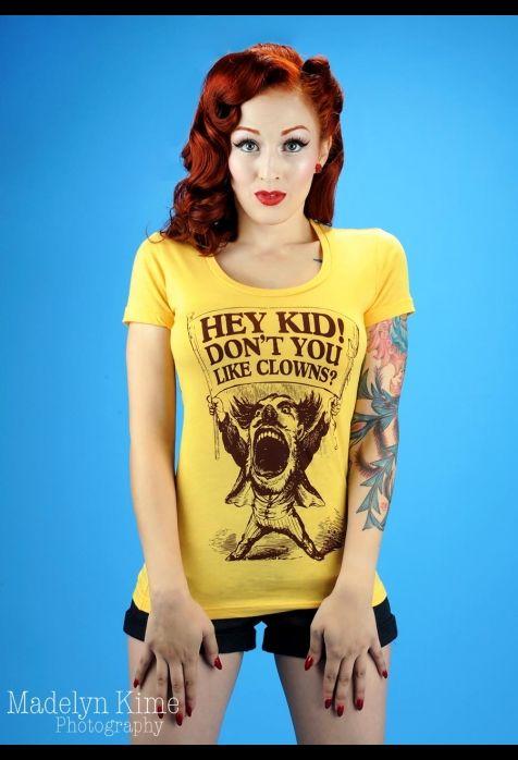 Hey kid!  Don't you like clowns?  tee shirt