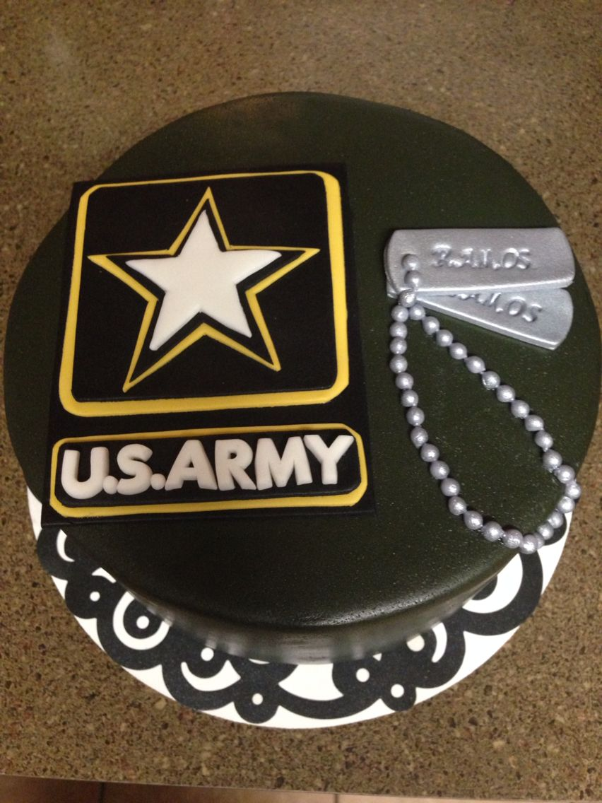 Army Going Away Cake With Images Army Wedding Cakes