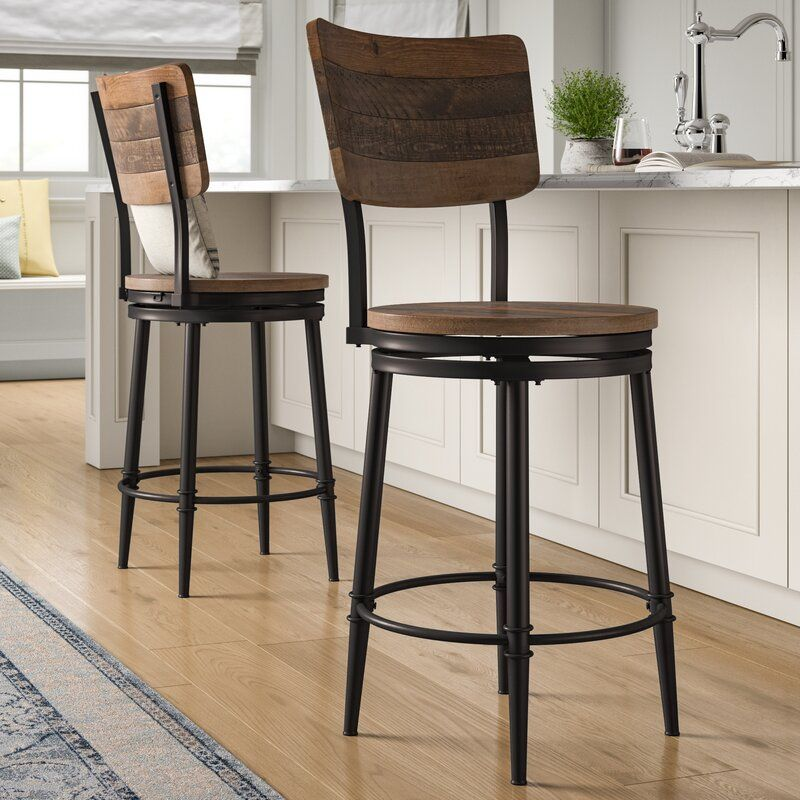 Putney Swivel Bar Counter Stool In 2020 Bar Stools With Backs Wood Bar Stools Swivel Bar Stools