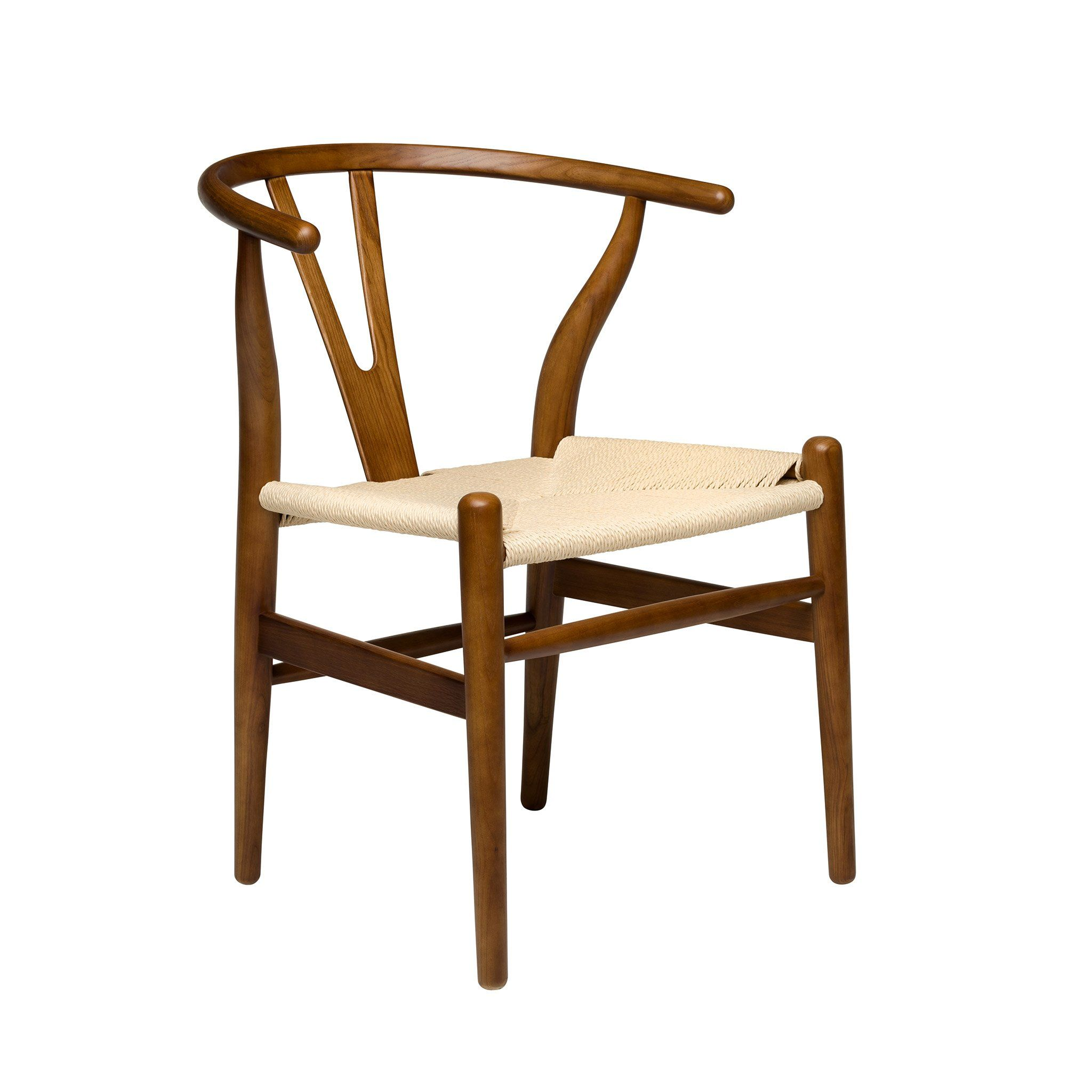 Wishbone chair walnut woven cord ships november 29th