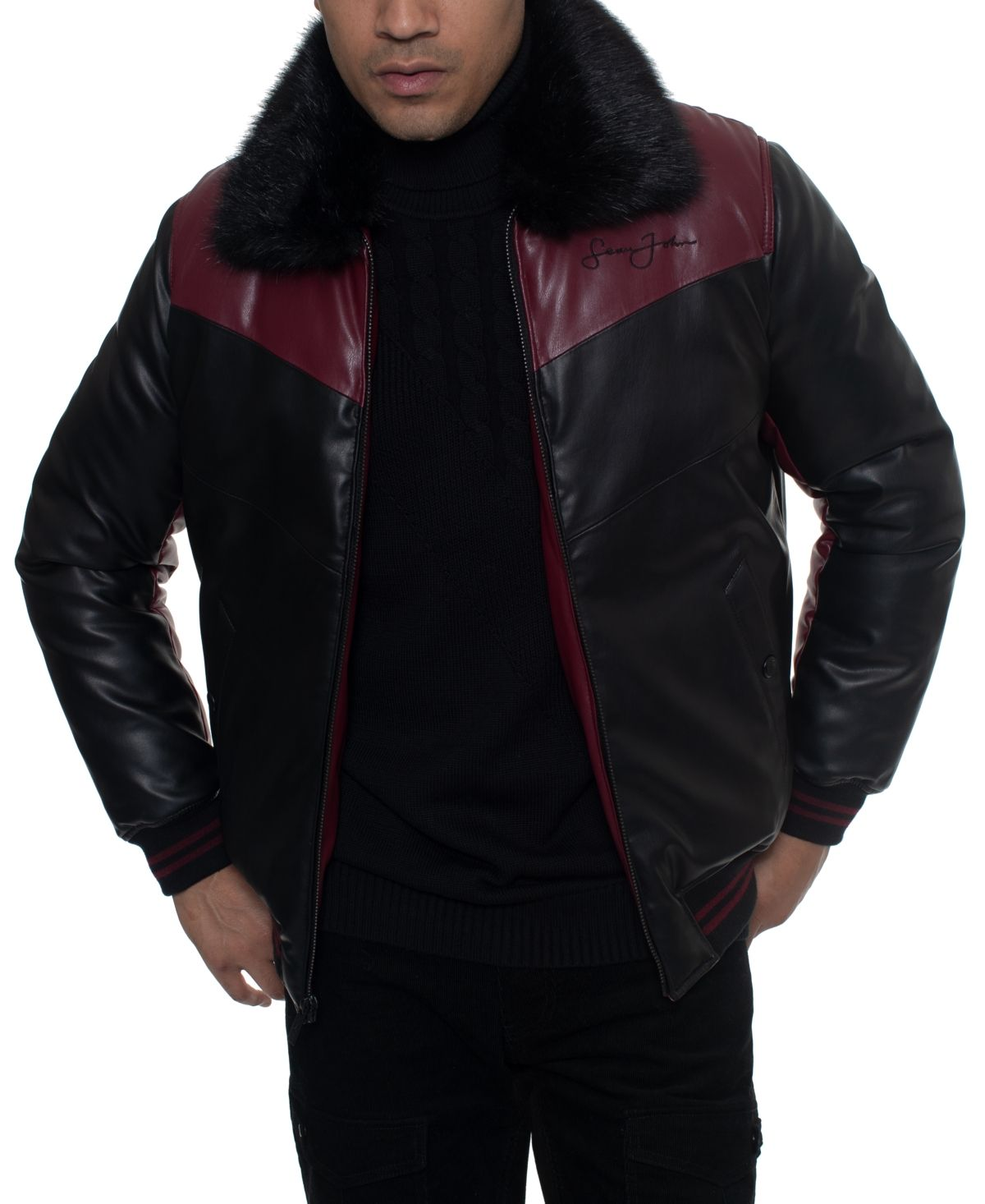 Sean John Men's Faux Fur Jacket & Reviews Coats