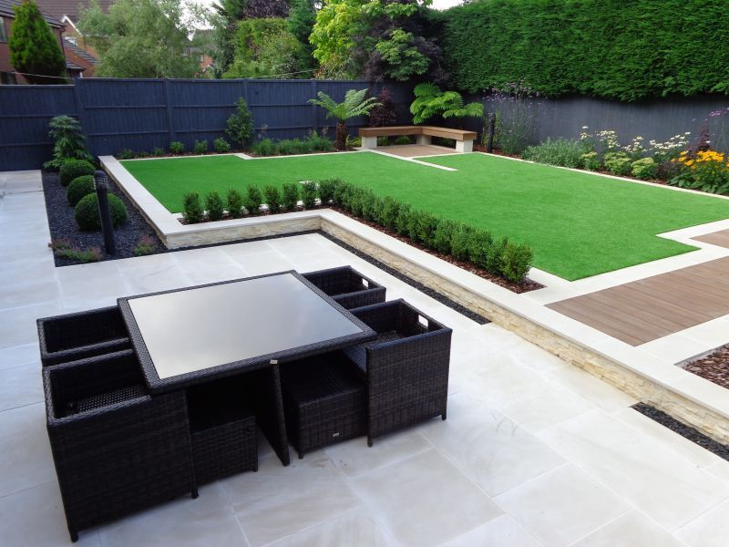 synthetic turf modern gardens