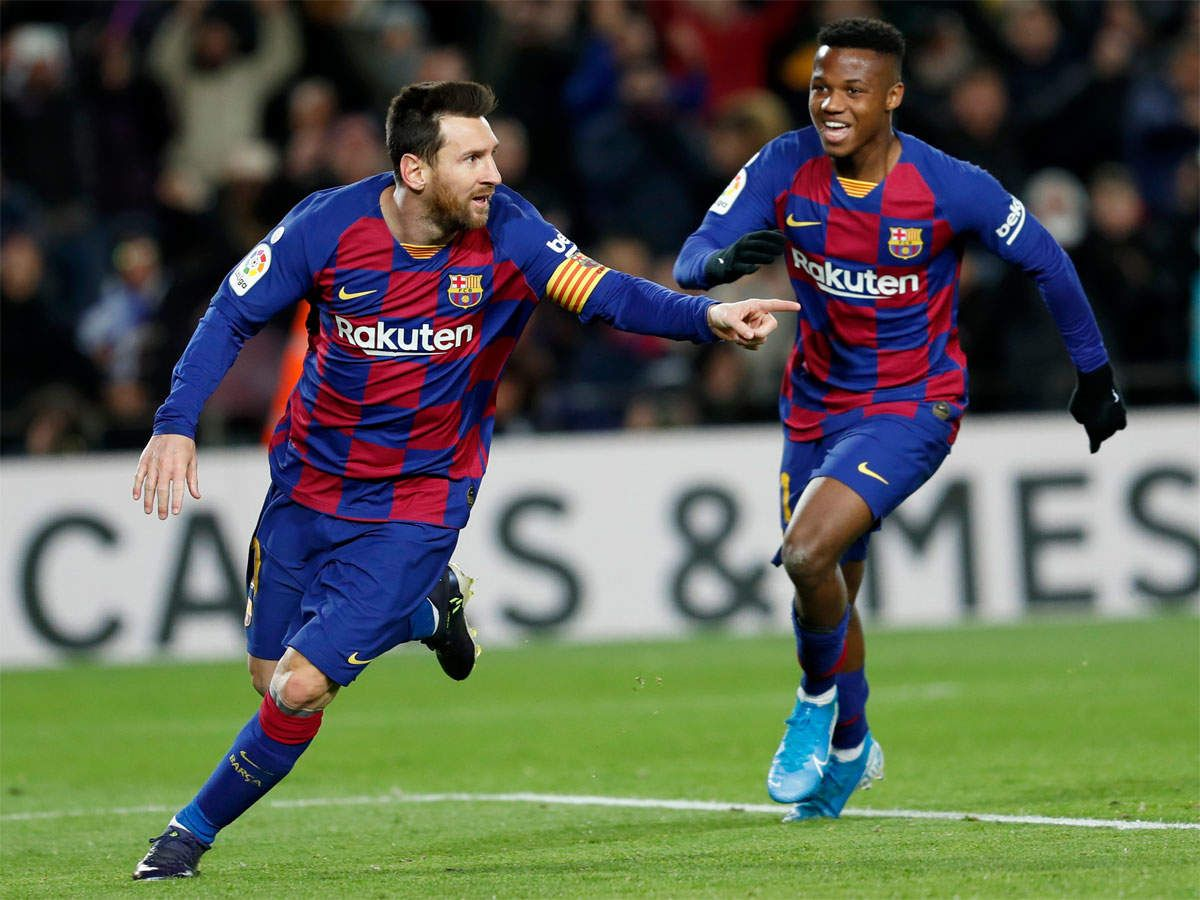 Ansu Fati And Lionel Messi Connection Sees Barcelona Hold On Against Levante In 2020 Barcelona Coach Lionel Messi Messi