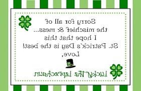 Busy Bees: Backwards Letter from The Leprechaun
