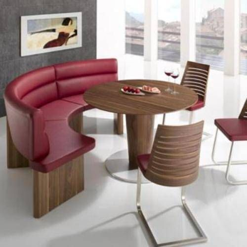 Round Dining Tables Bench Seating Interior Wood Dining Room