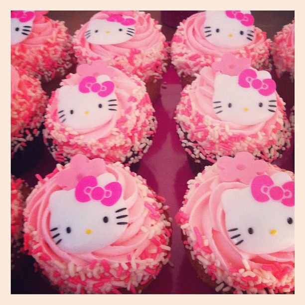 1223cb85a hello kitty Cuppycakes! ♥ I want these at my birthday :D | birthday ...