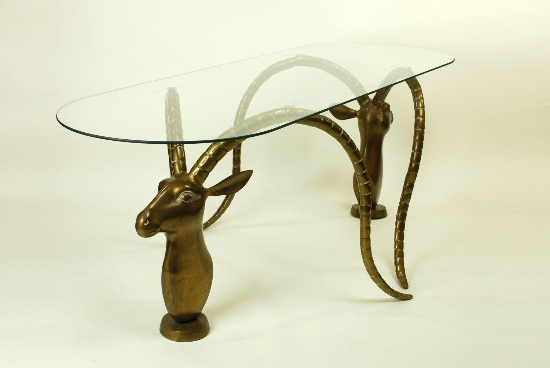 Vintage Brass Gazelle Coffee Table Vintage Brass Retro Home
