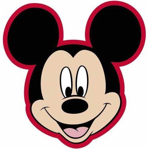 Coussin en forme de t te de mickey plaids rideaux - Coloriage tete mickey ...