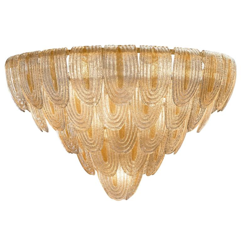 Murano Glass Art Deco Style Chandelier Murano Glass Chandelier