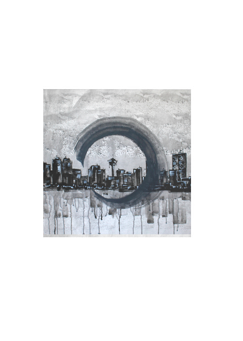City skyline in Abstract