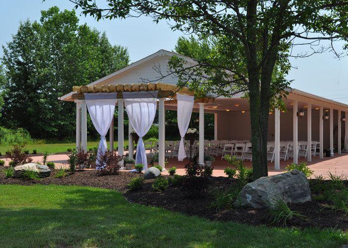 Outdoor Wedding Ceremony At Ahern Banquet Center In Avon Lake Ohio