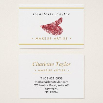 Modern pink glitter lips classy beauty makeup business card makeup modern pink glitter lips classy beauty makeup business card girly gift gifts ideas cyo diy special unique reheart Images