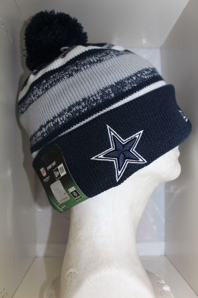 2014-15 Dallas Cowboys NEW ERA NFL CLASSIC SIDELINE SPORT KNIT Cap Beanie  w Pom in Football-NFL  70aca79da