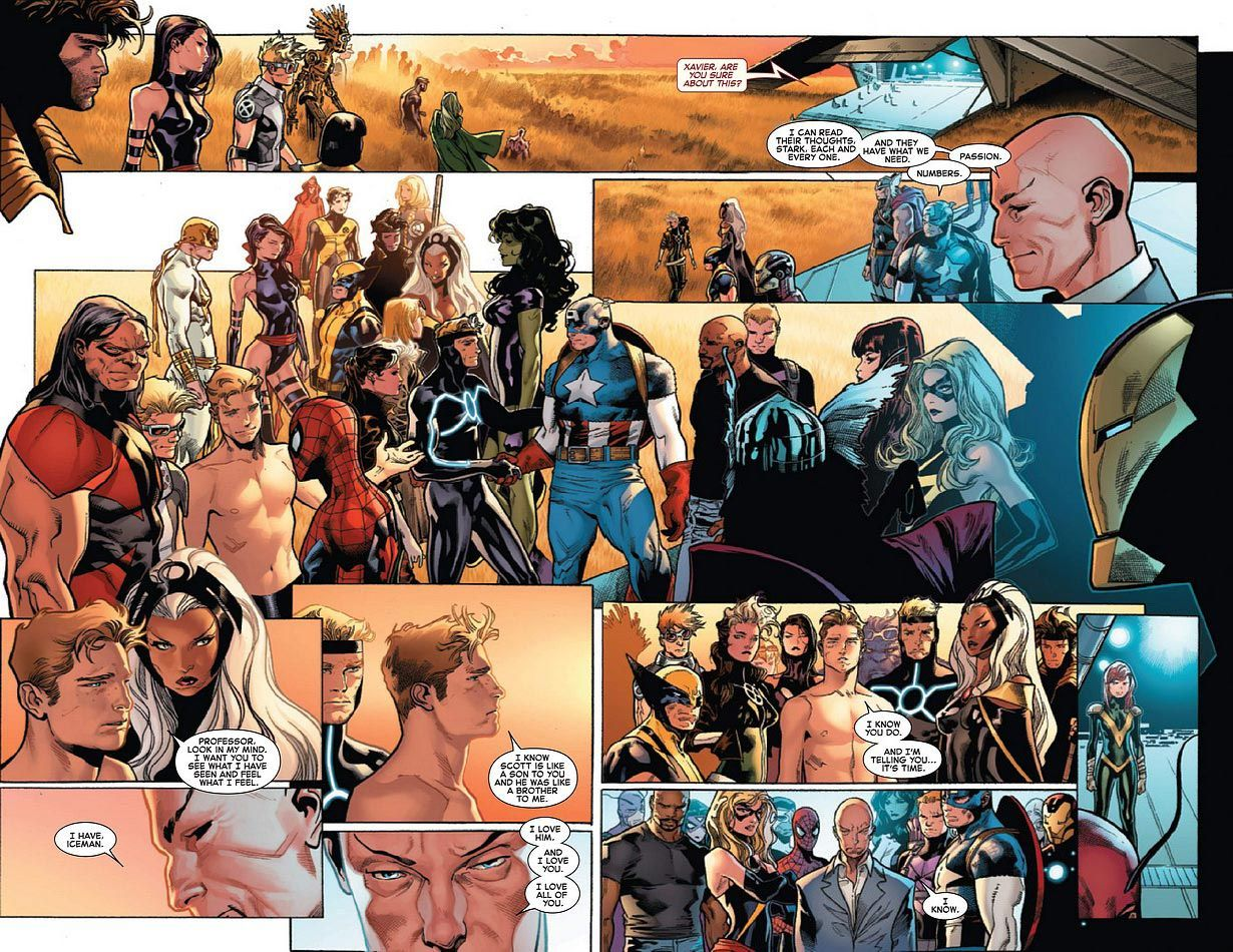 Olivier Coipel House Of M Google Search X Men Avengers Comic Layout