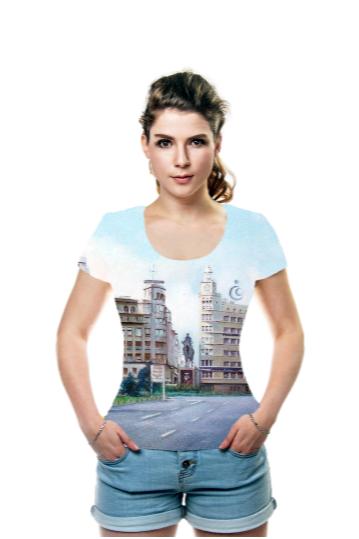 T-Shirt 'Plaza de España (Ferrol. A Coruña) ' is designed by artist Jose Castro Dopico
