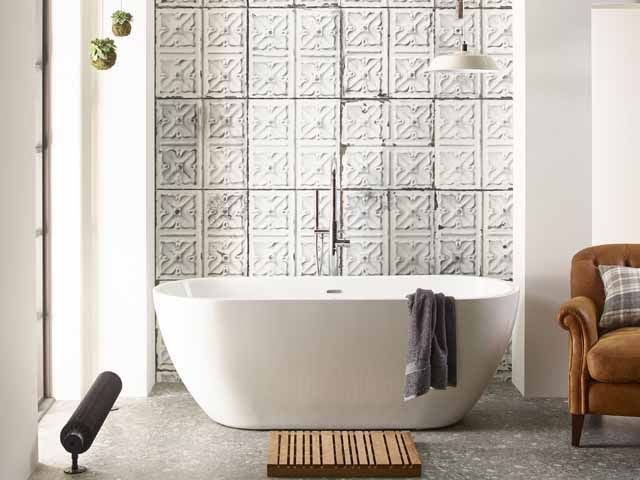 Laura Ashley Bathroom Collection Opus Bath In Front Of A Textured Wall