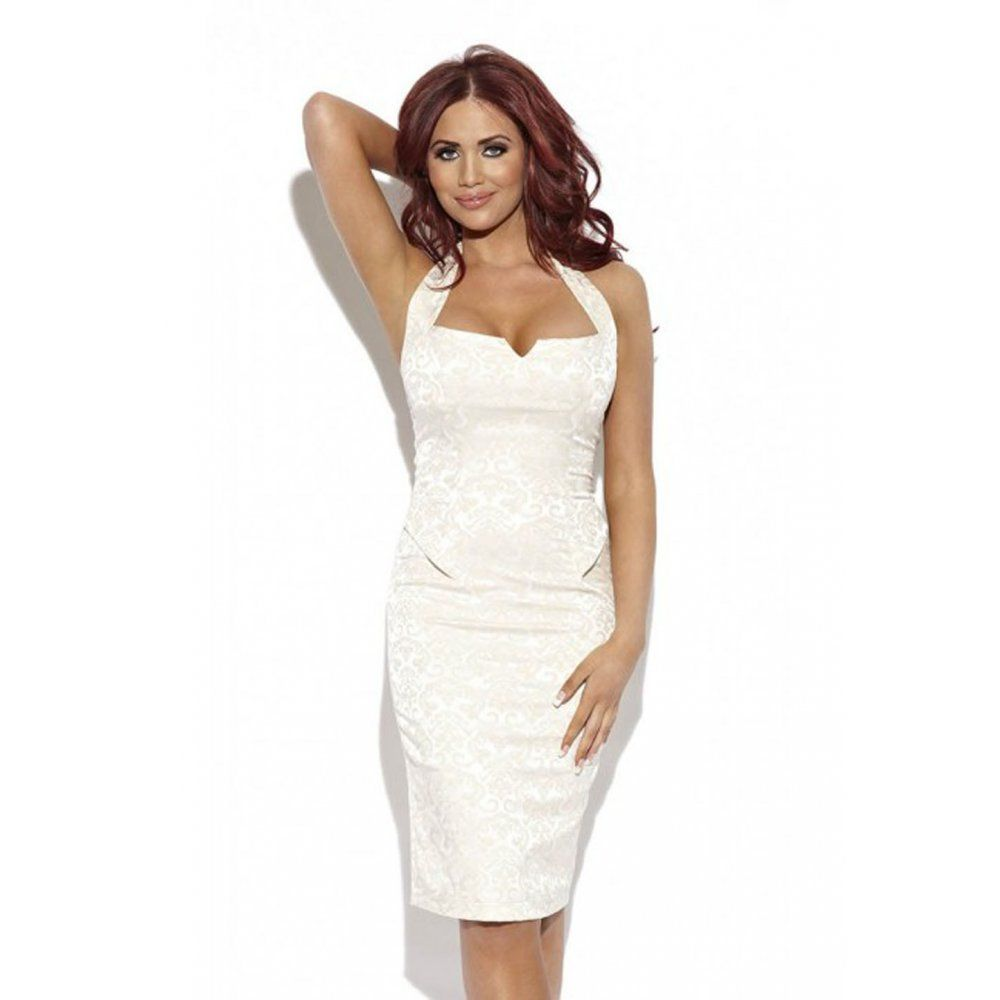 Amy Childs White Halter Neck Amy Dress | Buy Amy Childs Dresses ...