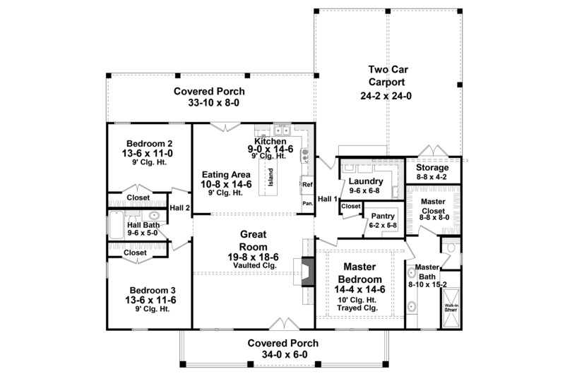 Farmhouse Style House Plan 3 Beds 2 Baths 1800 Sq Ft Plan 21 451 Farmhouse Style House Plans Farmhouse Style House House Plans