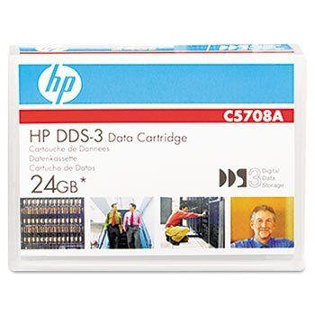 HP C5708A - 1/8 DDS-3 Cartridge, 125m, 12GB Native/24GB Compressed Capacity-HEWC5708A by HP. $11.75. HP DSS cartridges provide a great low-cost, high-capacity data archiving solution. As they feature a durability rating two times greater than the industry standard, they're the perfect backup media choice for midrange servers. They deliver faster performance and a greater storage capacity, too! That translates as cartridges that require far fewer tape swaps during backup...