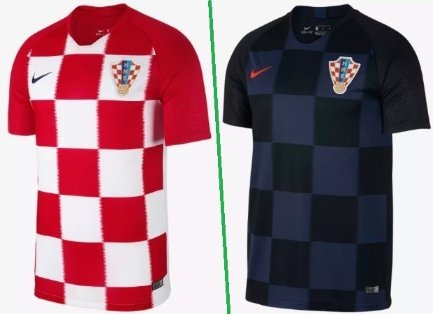 c2f6f6984 Croatia home and away kits - jersey for world cup 2018