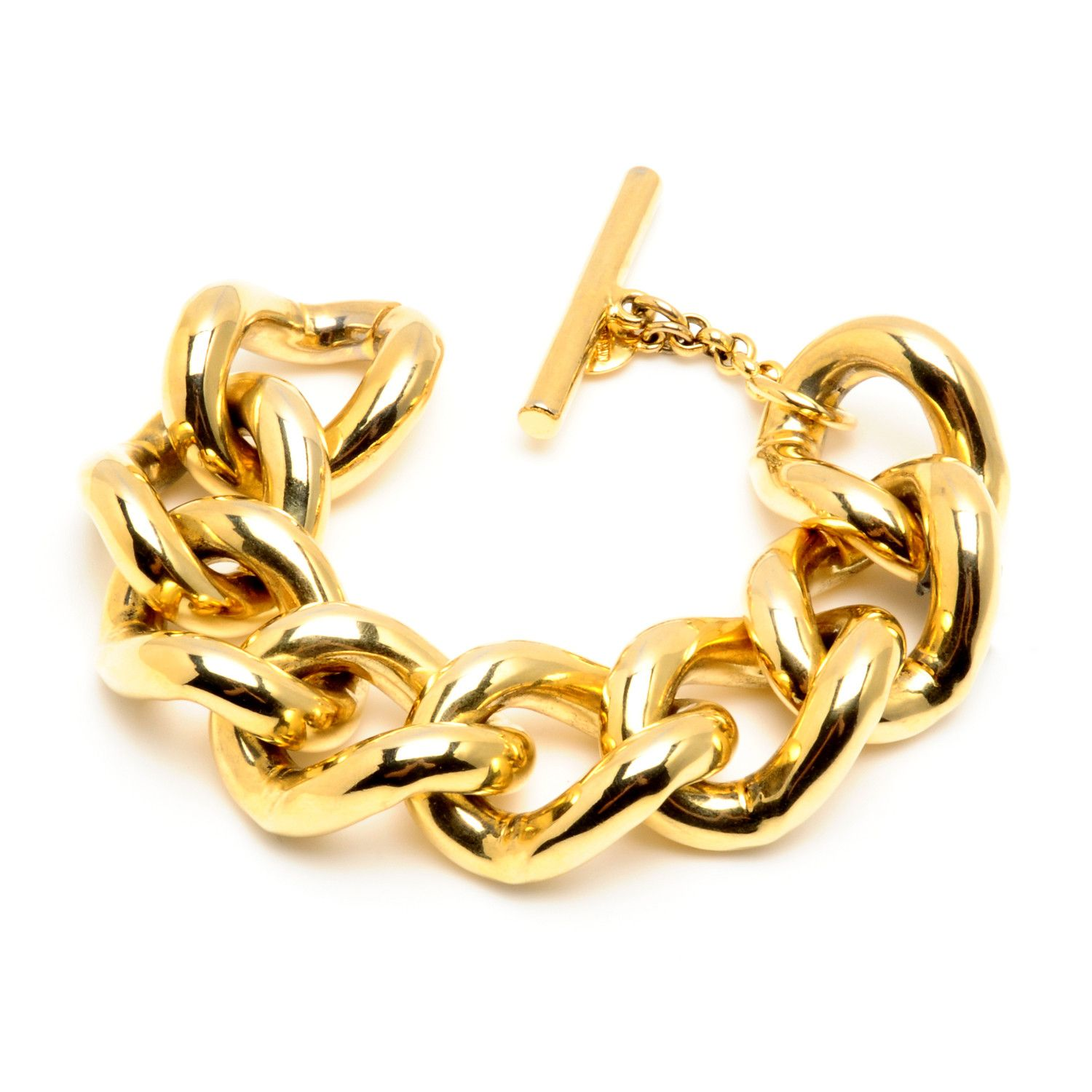 click solid large itm figaro thumbnails chain enlarge link to yellow real bracelet b mens gold