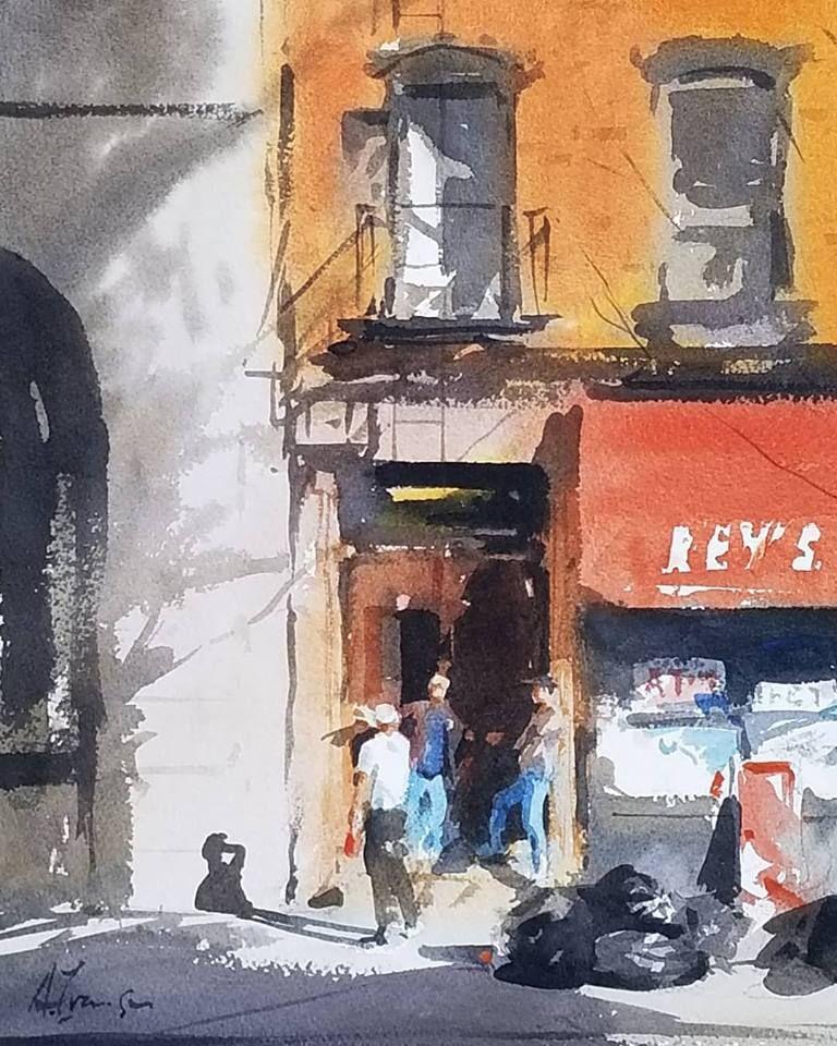 Andy Evansen Nyc Studio May 2018 Watercolor Paintings Easy