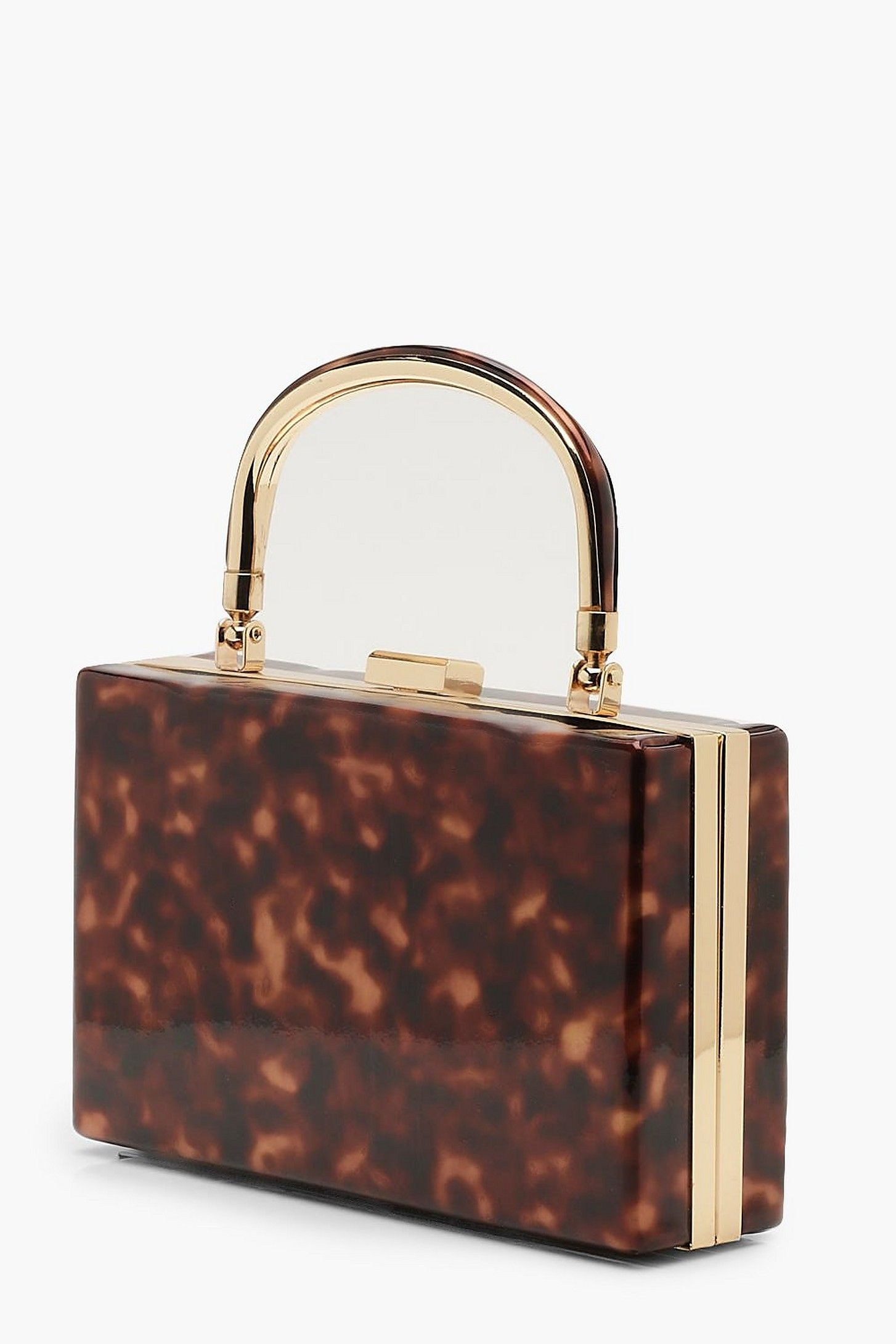 high fashion large assortment online store Resin Effect Box Clutch Bag With Handle | Boohoo | styling ...