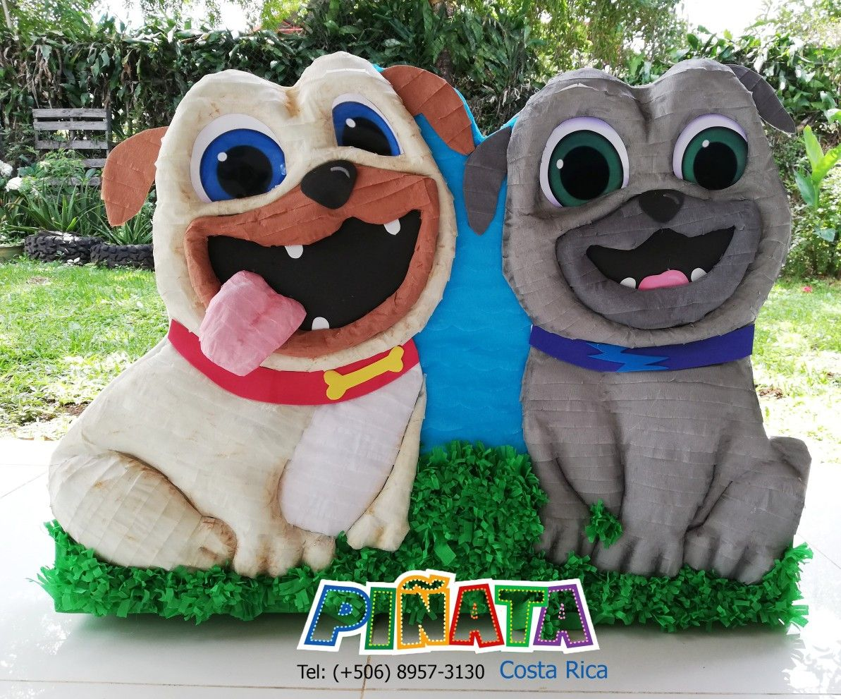 Piñata rolly y bingo piñata puppy dog pals fiesta puppy dog pals