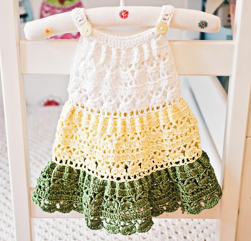 Crochet Tiered Dress | Tejido, Bebe y Vestiditos