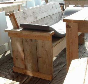 gartenbank selbst bauen garten pinterest gartenb nke selbst bauen und rustikale bank. Black Bedroom Furniture Sets. Home Design Ideas