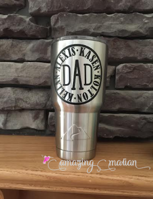 ad62ded791fe Custom 30 oz Tumbler. Perfect Fathers Day gift! Comparable to Yeti. Decal  can be personalized. Custom gift!