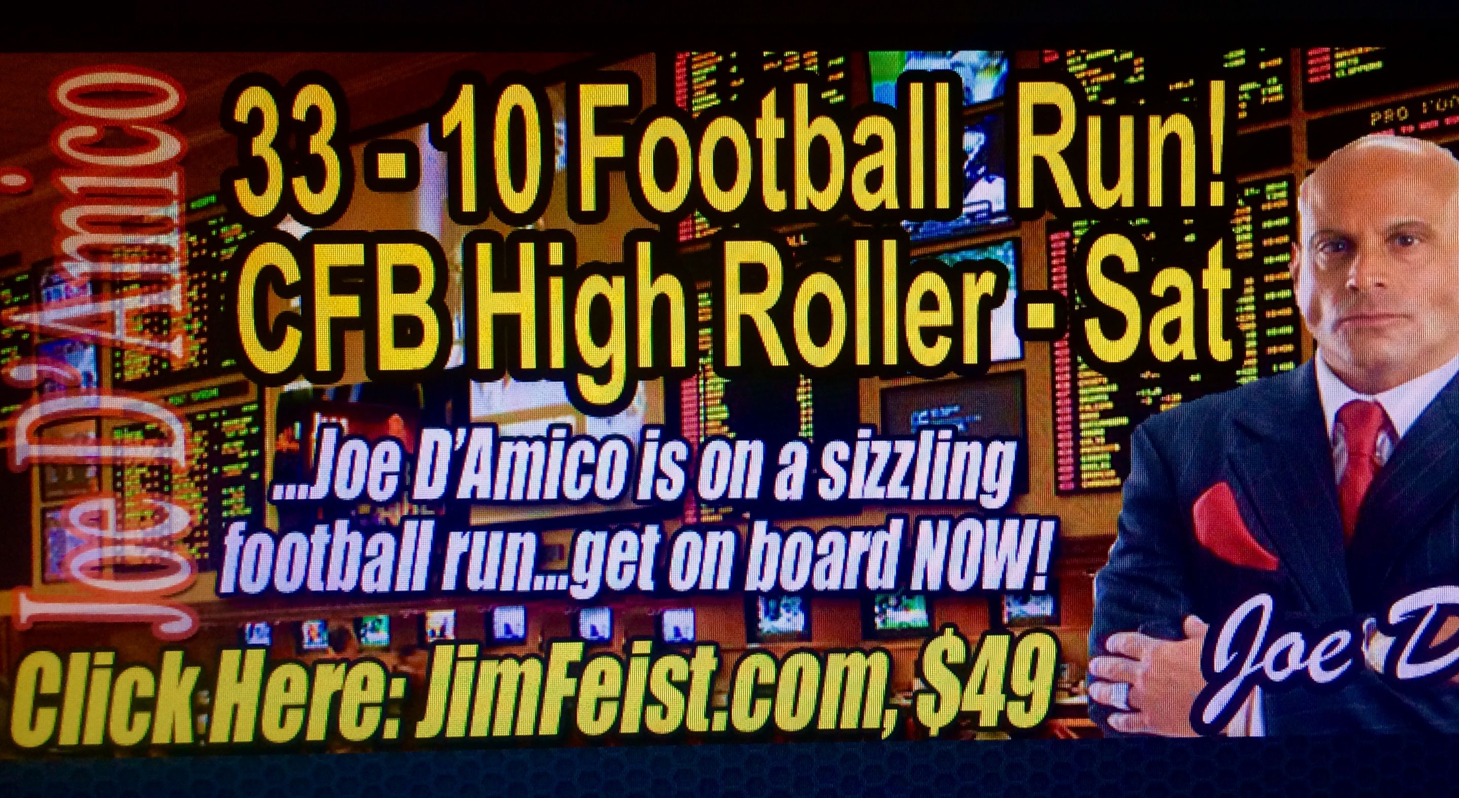 Joe D'Amico's Football is HOT, HOT, HOT as he is 3310 his