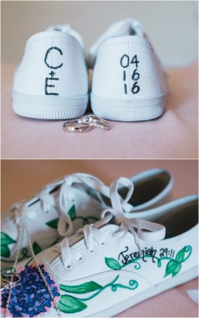 Christian bride shoes. Esther and Craig's Nautical Christian Wedding in Stettler, Alberta, Canada. Anchored in Love. Photos by Raelene Schulmeister Photography