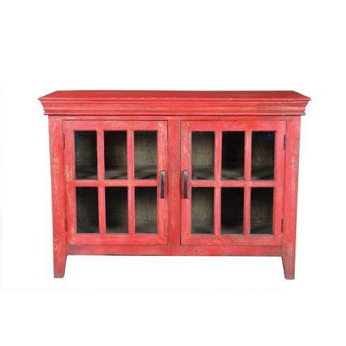 Distressed Red 48 Inch Wide Storage Cabinet Pinterest Storage