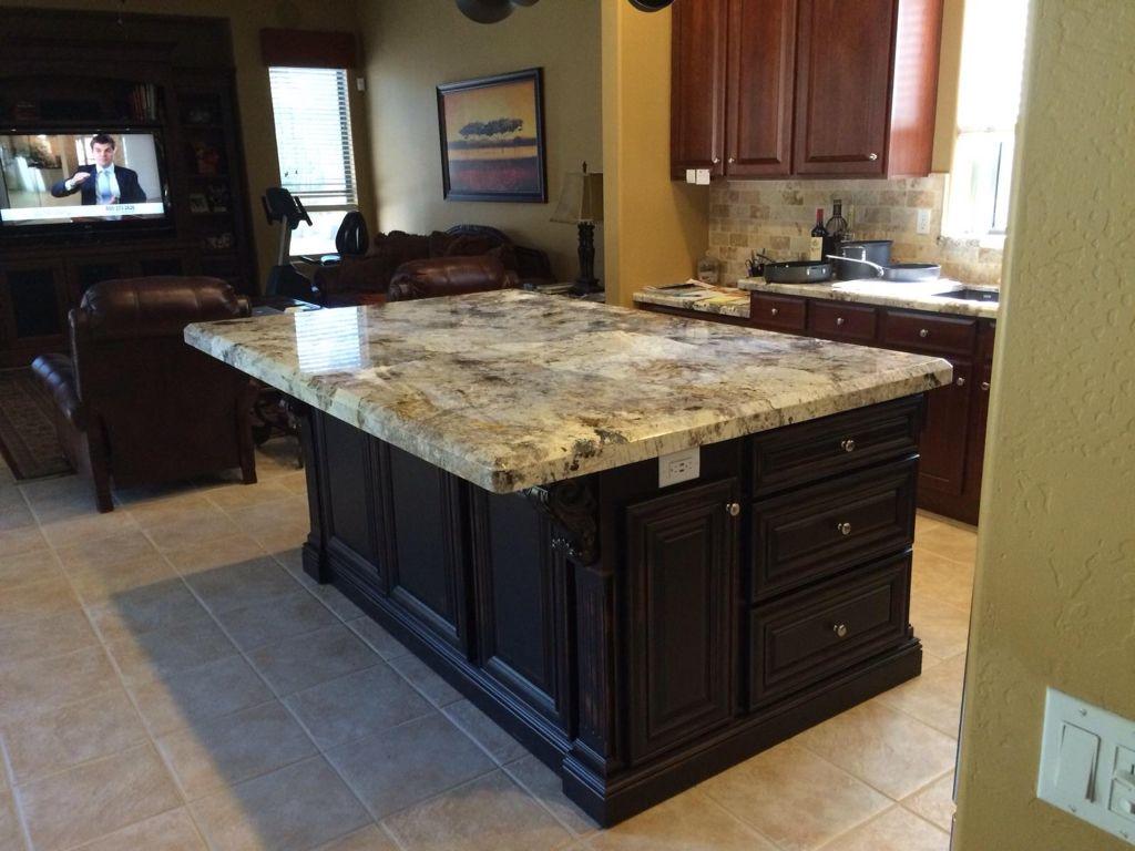 My Kitchen Island Copenhagen Granite With 3 Inch Beveled