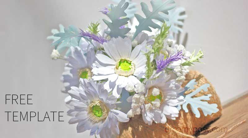 Gerbera paper bouquet, paper gerbera, paper flower, free template ...
