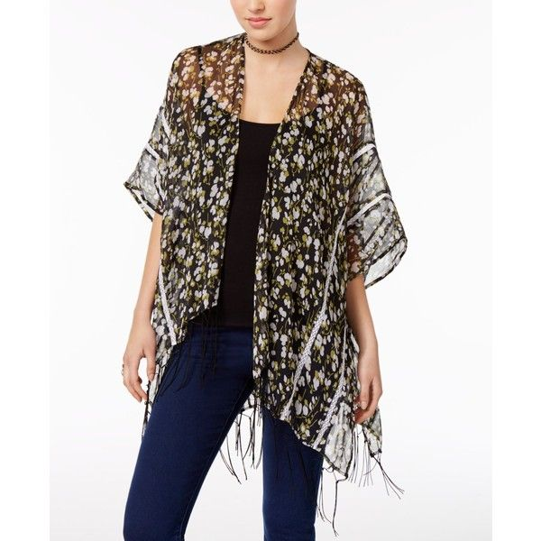 2d7c442ba1 Inc International Concepts Floral and Lace Kimono
