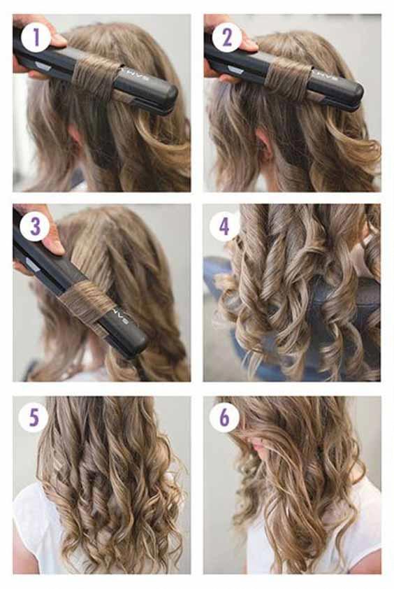 Pin En Long Hair Curls