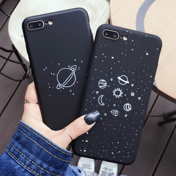 a462eb94d78 Black planets galaxy iphone cover in 2019 | iphone cases | Phone ...