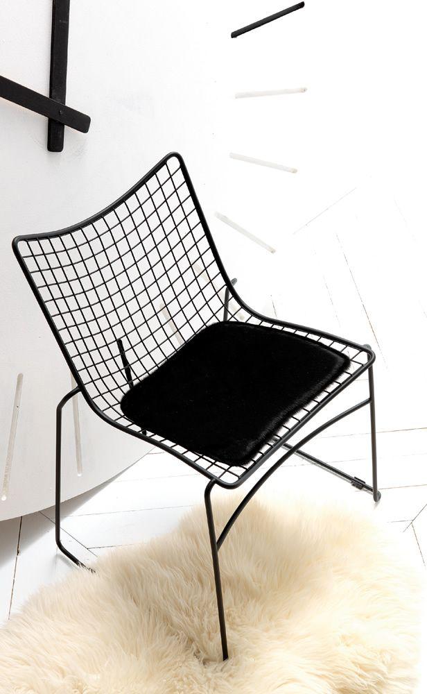 ESEDRA DESIGN - STITCH - Sedia in rete e tondino di acciaio cromato o laccato - CRISTIAN GORI http://www.esedradesign.it/product.asp?id=11