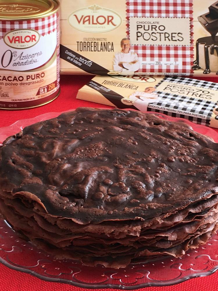 Tarta De Crepes De Chocolate Crepes De Chocolate Panqueques De Chocolate Tartas
