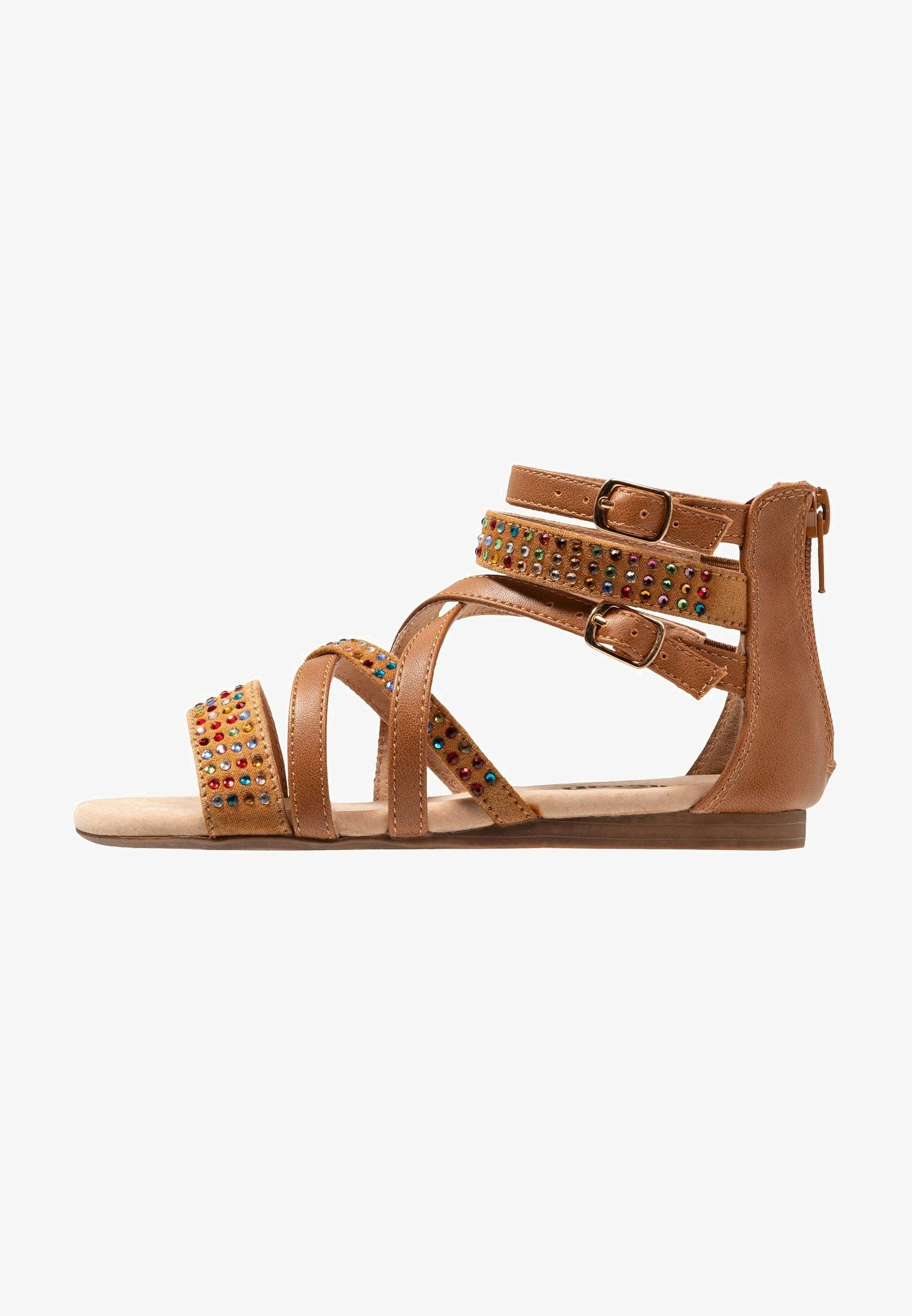meet reasonable price good texture Riemensandalette - tan @ Zalando.de 🛒 | Girls sandals, Sandals, Belt