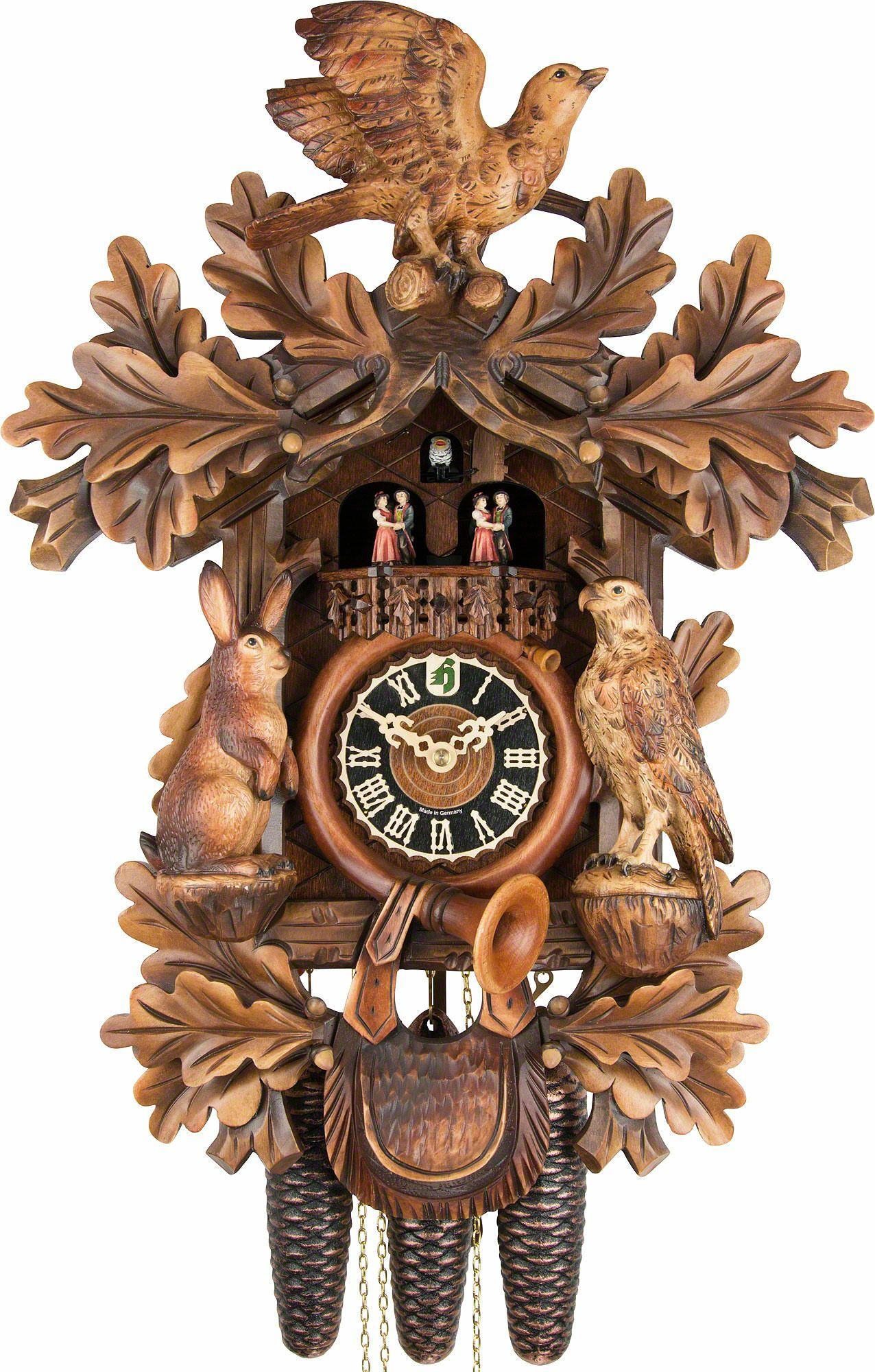 horloge coucou traditionnelle mouvement 8 jours 52cm de h nes horloges coucou. Black Bedroom Furniture Sets. Home Design Ideas