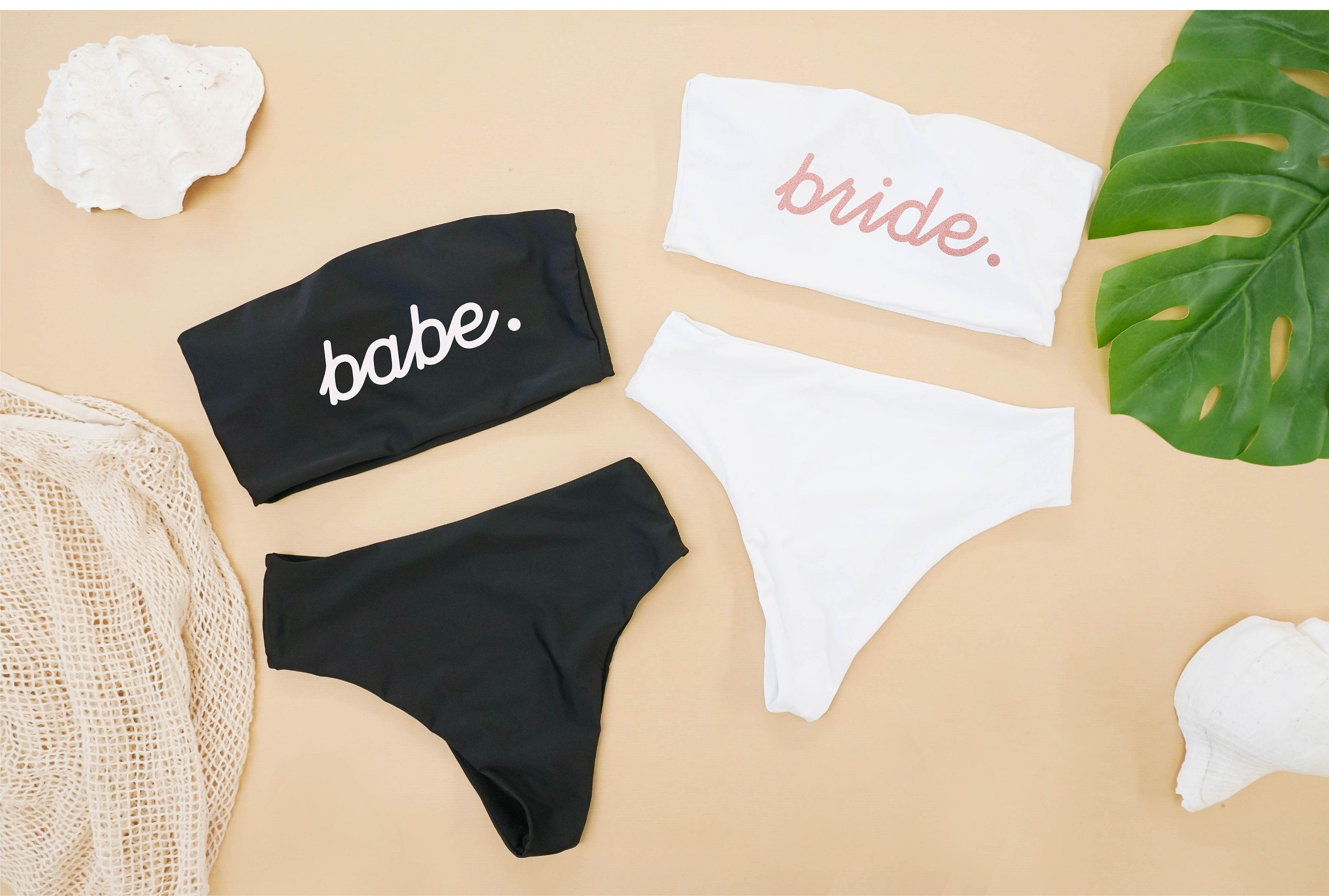 Bride/Bridesmaid Bikini | Bridesmaid Gifts | Personalized Bikini | Bachelorette Party Bikini | Bridal Swimwear | Honeymoon Bikini (Tube Top)