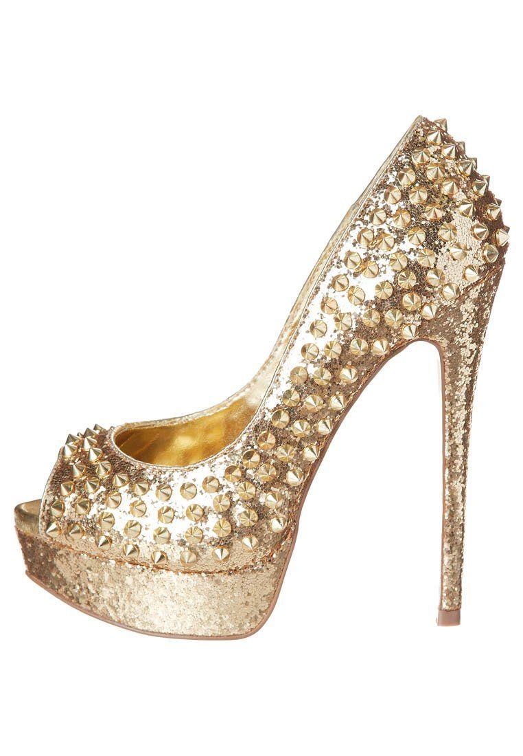 ae0138bf692 Steve Madden - High Heel Peeptoe - gold