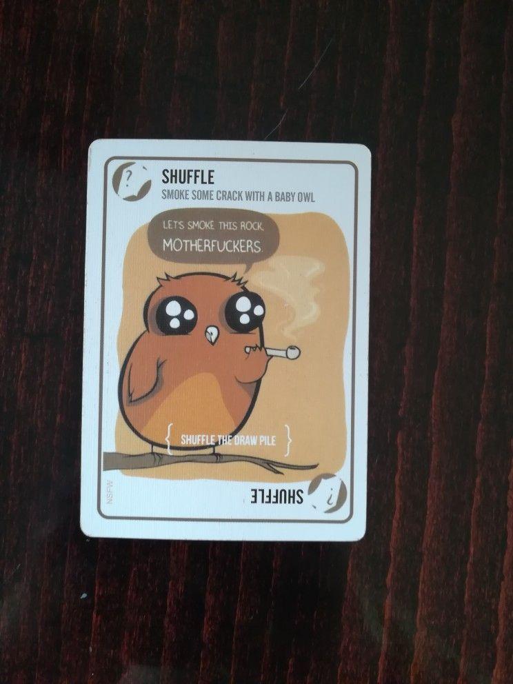 Card From Exploding Kittens Game Exploding Kittens Exploding Kittens Card Game Baby Owls