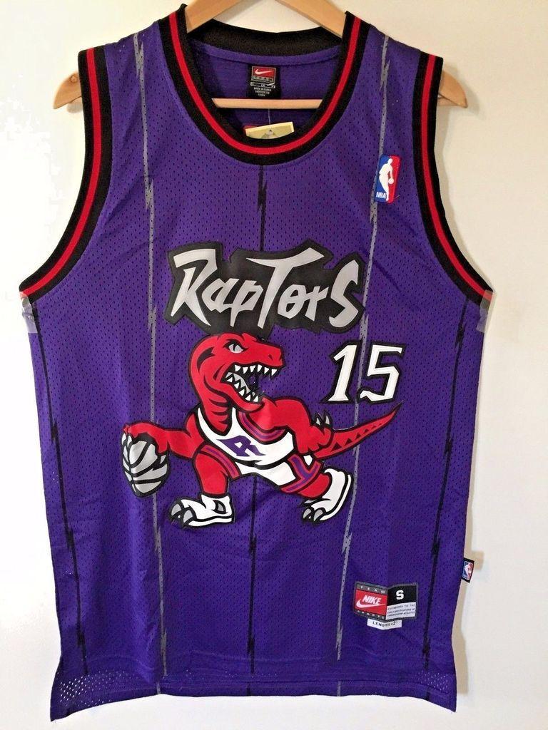Men 15 Vince Carter Jersey Purple Toronto Raptors Throwback