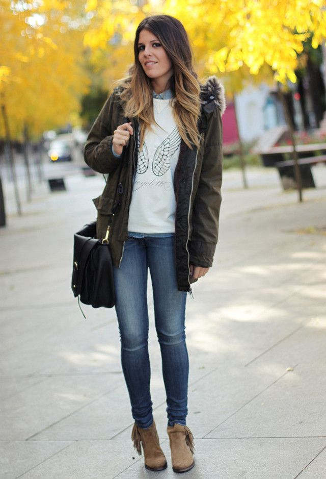 Look Super Fashionable With A Casual Parka Jacket | Outfits ...
